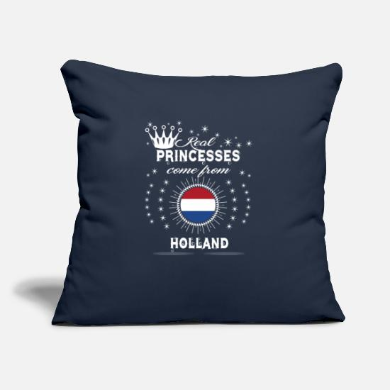 "Love Pillow Cases - queen love princesses HOLLAND - Throw Pillow Cover 18"" x 18"" navy"