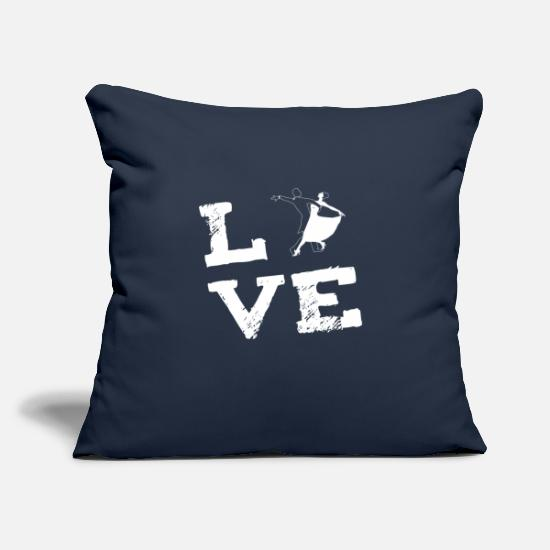 "Birthday Pillow Cases - waltz Dance Love Dance Gift - Throw Pillow Cover 18"" x 18"" navy"
