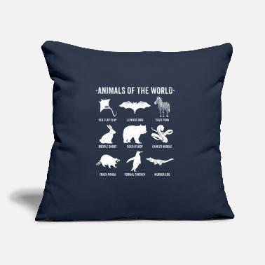 "Animals Of The World Funny Rare Animals Memes Simple Vintage Humor Funny Rare Animals of World - Throw Pillow Cover 18"" x 18"""