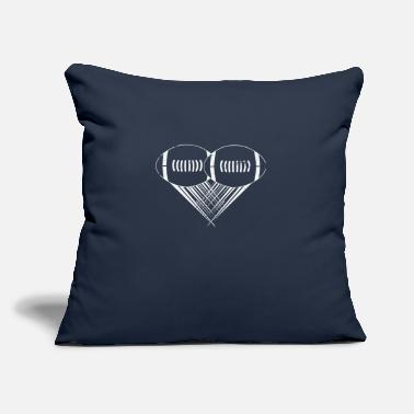 "I Heart Football I love american football My Heart Football Gifts - Throw Pillow Cover 18"" x 18"""