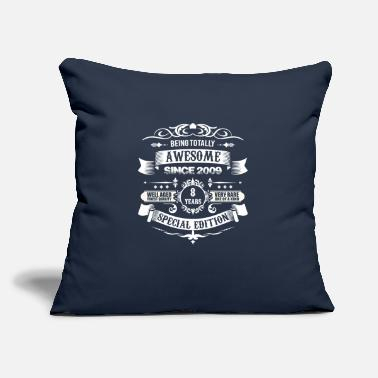 "Best Totally Awesome Since 2009 8th Birthday - Throw Pillow Cover 18"" x 18"""