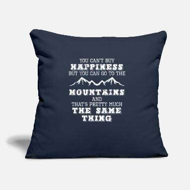 "Mountain Climbing Mountains - Happiness - Climb - Hike - Travel - Throw Pillow Cover 18"" x 18"""
