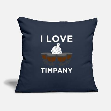 "Orches I LOVE TIMPANY Drummer T Shirt Gift Musician Orche - Throw Pillow Cover 18"" x 18"""