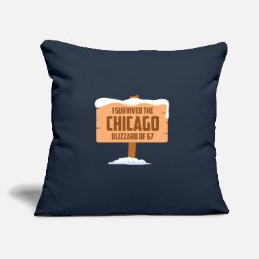"Blizzard I SURVIVED THE CHICAGO BLIZZARD OF 67 - Throw Pillow Cover 18"" x 18"""