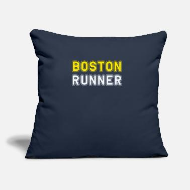 "Boston Marathon Boston Runners Running Marathon - Throw Pillow Cover 18"" x 18"""