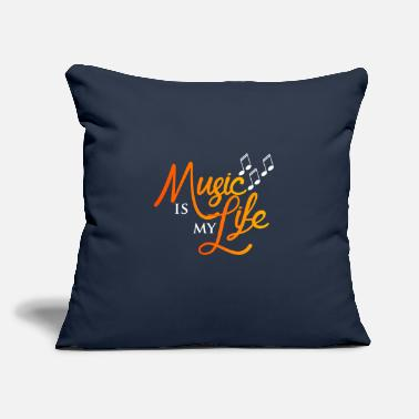 "Music Music is My Life - Throw Pillow Cover 18"" x 18"""