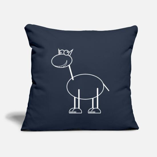 "Graphic Art Pillow Cases - Funny Animal - Throw Pillow Cover 18"" x 18"" navy"