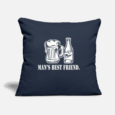 "Friend Mans Best Friend - Throw Pillow Cover 18"" x 18"""