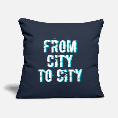 "City FROM CITY TO CITY - Throw Pillow Cover 18"" x 18"""