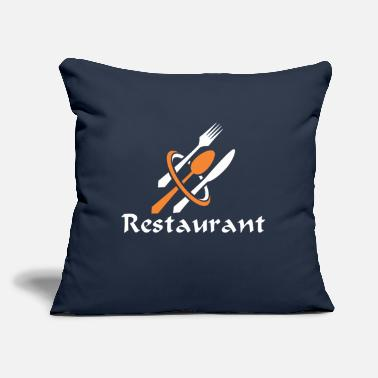 "Restaurant Restaurant - Throw Pillow Cover 18"" x 18"""