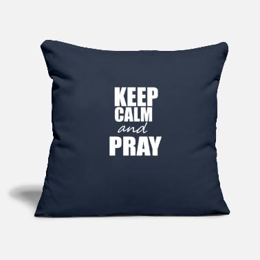 "Keep Calm KEEP CALM - Throw Pillow Cover 18"" x 18"""