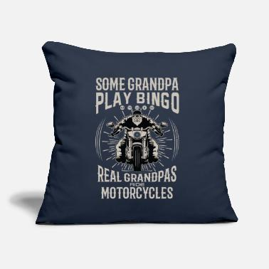"Real Grandpas Ride some grandpa play bingo real grandpa rides bike - Throw Pillow Cover 18"" x 18"""