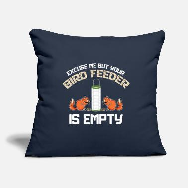"Girlfriend Excuse Me Your Bird Feeder Is Empty Gift Ideas - Throw Pillow Cover 18"" x 18"""