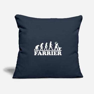 "Farrier Farrier Evolution - Throw Pillow Cover 18"" x 18"""