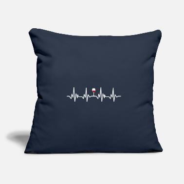 "Heartbeat Wine Pulse heartline Gift - Throw Pillow Cover 18"" x 18"""