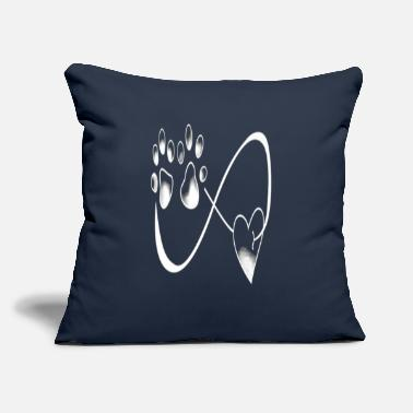 "Paw DOG PAW - Throw Pillow Cover 18"" x 18"""