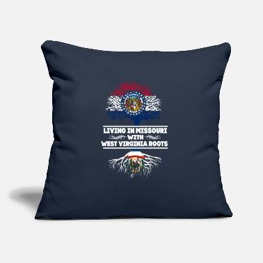 "West Virginia Roots Living in Missouri With West Virginia Roots - Throw Pillow Cover 18"" x 18"""