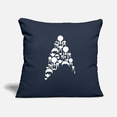 "Star Trek Ships Trek - Throw Pillow Cover 18"" x 18"""