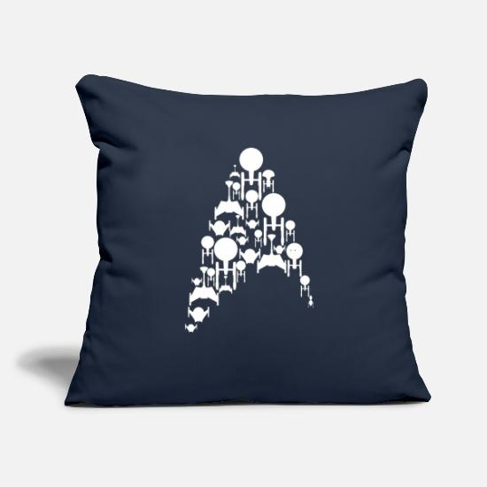 "Trek Pillow Cases - Ships Trek - Throw Pillow Cover 18"" x 18"" navy"