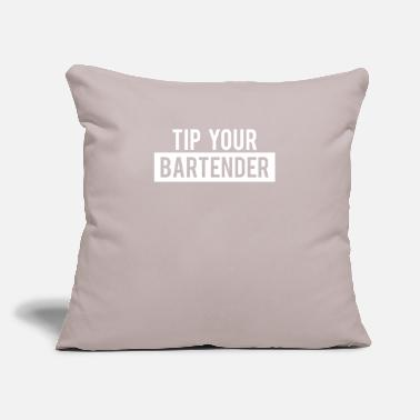 "Bartender Bartender Bartending Gift Tip Your Bartender - Throw Pillow Cover 18"" x 18"""