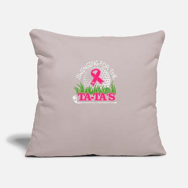"Awareness Swinging For the Ta Tas Breast Cancer Golf - Throw Pillow Cover 18"" x 18"""