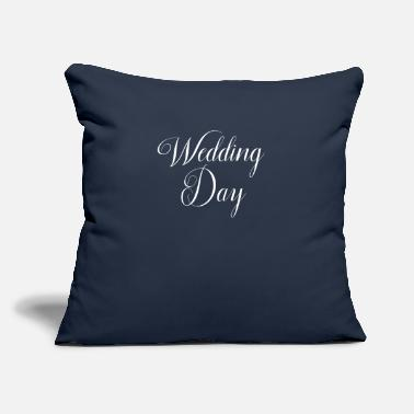 "Wedding Day Wedding Word Art Wedding Day - Throw Pillow Cover 18"" x 18"""