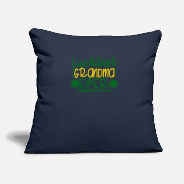 "Cupcake New St. Pats Luckiest Grandma Ever - Throw Pillow Cover 18"" x 18"""