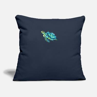 "Save Watercolor Sea Turtle Blue Sea Turtle - Throw Pillow Cover 18"" x 18"""