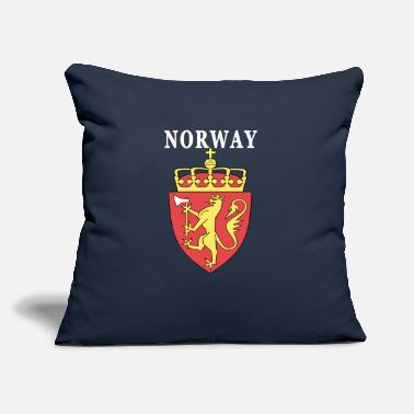"Norway Coat Of Arms Norway coat of arms design - Throw Pillow Cover 18"" x 18"""