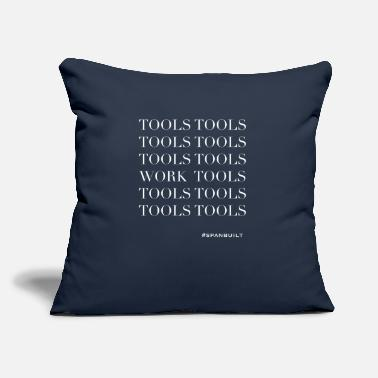 "Tool Tools Tools Tools Work Tools - Throw Pillow Cover 18"" x 18"""