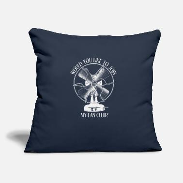 "Electric Fan Vintage Electric Fan Funny Pun - Throw Pillow Cover 18"" x 18"""