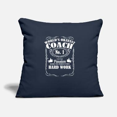 "Coachcoaching Okayest coach in the world - t-shirts - Throw Pillow Cover 18"" x 18"""