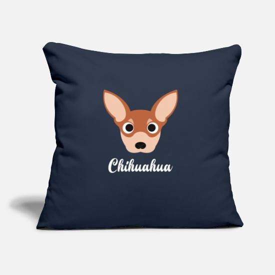 "Chihuahua Pillow Cases - Chihuahua - Throw Pillow Cover 18"" x 18"" navy"