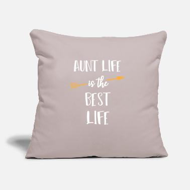 "Aunt Aunt Life Funny Design for Aunts - Throw Pillow Cover 18"" x 18"""