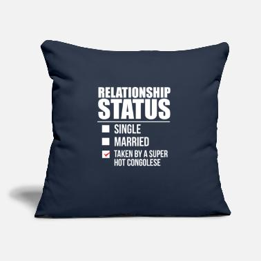 "Congolese Girlfriend Relationship status taken by super hot Congolese - Throw Pillow Cover 18"" x 18"""