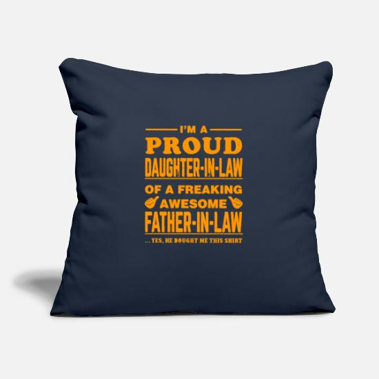 "Son Pillow Cases - father - Throw Pillow Cover 18"" x 18"" navy"