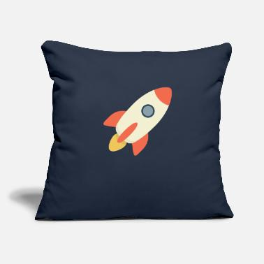 "Rocket Blast - Throw Pillow Cover 18"" x 18"""