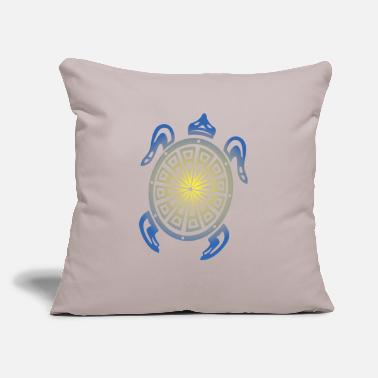"Tribal Sea Turtle - Throw Pillow Cover 18"" x 18"""