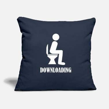 "Download Downloading - Throw Pillow Cover 18"" x 18"""