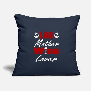 "Labouratory red Wine Dogs Labrador Gift for Dog owners - Throw Pillow Cover 18"" x 18"""
