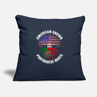 "Portuguese American Grown Portuguese Roots - Throw Pillow Cover 18"" x 18"""
