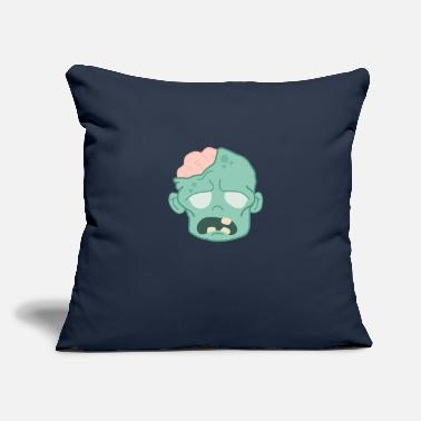 "Angry Zombie Brains - Throw Pillow Cover 18"" x 18"""