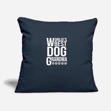 "Grandma World's Best Dog Grandma - Throw Pillow Cover 18"" x 18"""