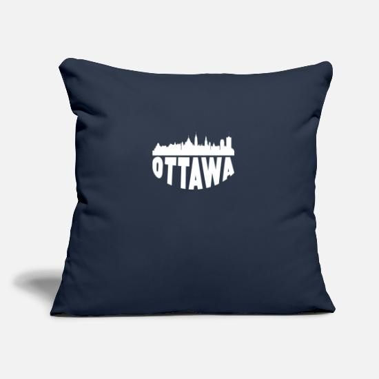 "Canada Pillow Cases - Ottawa Canada Cityscape Skyline - Throw Pillow Cover 18"" x 18"" navy"