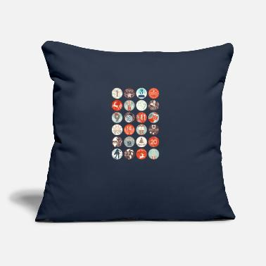 "Advent Advent calendar - Throw Pillow Cover 18"" x 18"""