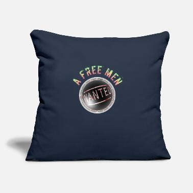 "T-shirt Wanted a Free men,2 - Throw Pillow Cover 18"" x 18"""