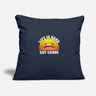 "Carbs Carbs - Throw Pillow Cover 18"" x 18"""