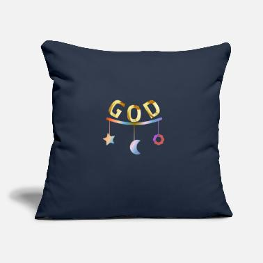 "God God god - Throw Pillow Cover 18"" x 18"""