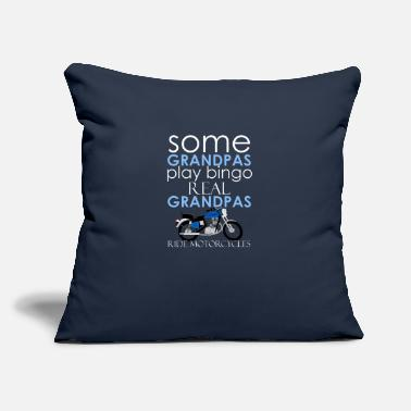 "Real Grandpas Ride Biker Grandpa Real Grandpas Ride Motorcycles - Throw Pillow Cover 18"" x 18"""