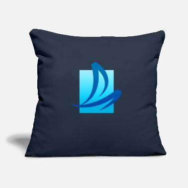 "Verão Summer - Wave - Design - Water - Vacation - Throw Pillow Cover 18"" x 18"""